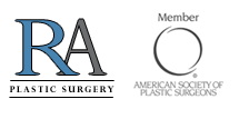 RA plastic surgery logo & member of amercian society of plastic surgeons